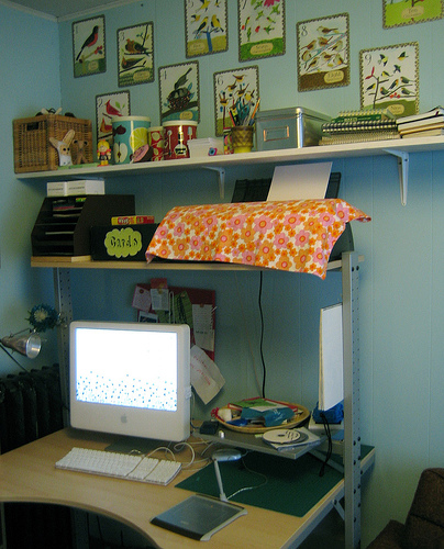 my reorganized & tidy office space