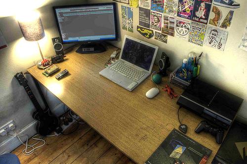 My Desk in Edinburgh