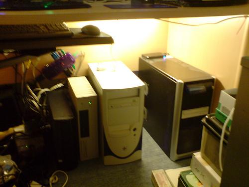 under my desk