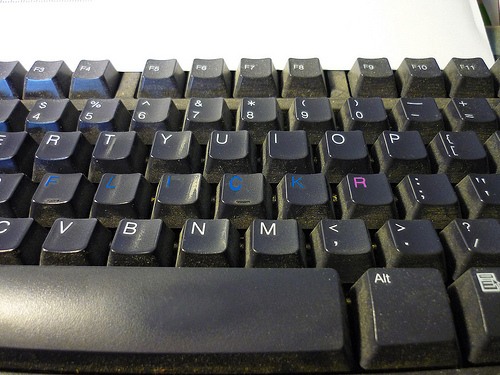 My Dusty Flickr Keyboard - Flickr fan art