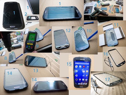 Samsung Galaxy S3 Broken Display Glass DIY Repair