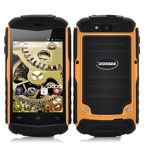 DOOGEE DG150 TITANS 3.5 inch Waterproof MTK6572 Dual Core 512MB RAM 4GB ROM Android 4.2 GPS 3G WCDMA Yellow