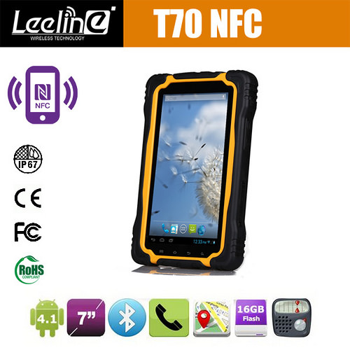 T70S 7Inch industrial nfc tablet wcdma 3G WIFI Bluetooth GPS waterproof android nfc tablet