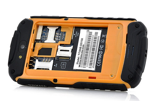 DOOGEE DG150 TITANS 3.5 inch Waterproof MTK6572 Dual Core 512MB RAM 4GB ROM Android 4.2 GPS 3G WCDMA Yellow