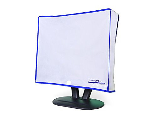 Dust and water resistant silky smooth antistatic vinyl LCD Monitor Dust Cover for 23-24″ LCD (23W x16H x3D)