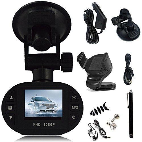 SQdeal® C600 1080P Full HD Car DVR 12 Ir LED Carcam G-sensor Camera 120A+ Grade High-resolution Ultra Wide-angle Len + Car Mount Holder + Earphone + Anti-dust Protective Cap + Touch Stylus Pen + Winder