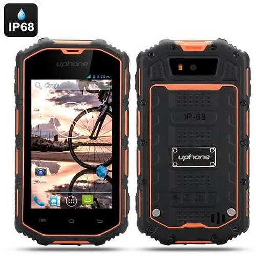 Uphone U5A Rugged Android Phone - Dual Core CPU, IP68 Waterproof + Dust Proof Rating, Shockproof (Orange) = RM650 PM 0134200124