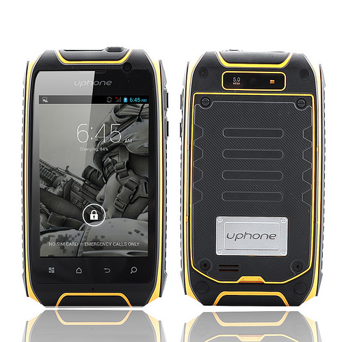 Uphone U5+ IP67 Smartphone – 1.3GHz Dual Core CPU, 3.5 Inch Display, Dual SIM, Waterproof, Dust Proof, Shockproof (Yellow)