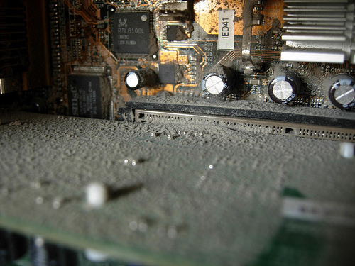 The dust in a computer we were given