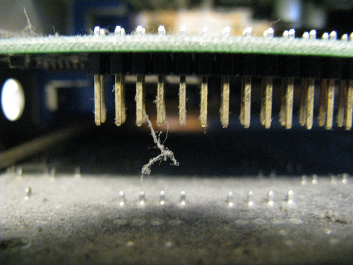 Videocard on dust