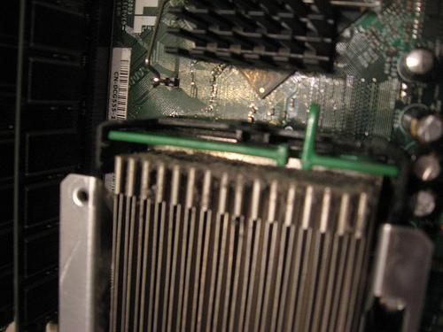 Dust on CPU Heat-Sink