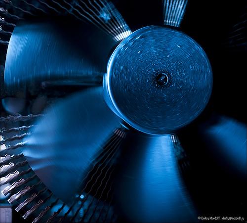Rotating computer CPU Fan