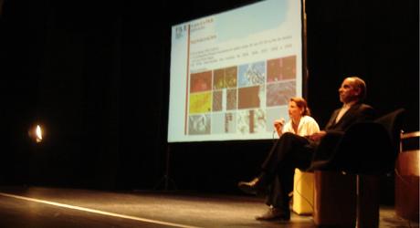 Paula Perissinotto no Lançamento do Voto Popular na Casa de Cultura Laura Alvim Ipanema