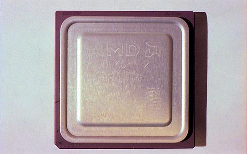 AMD K6-2 500 CPU chip