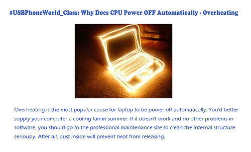 #USBPhoneWorld_Class: Why Does CPU Power OFF Automatically - Overheating