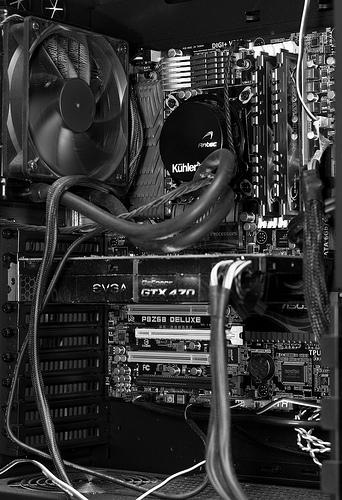 My computer - b&w version