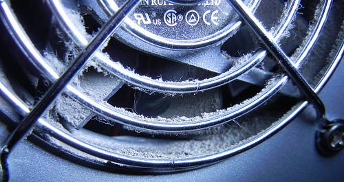 Computer fan dust [Polvere di una ventola di computer]