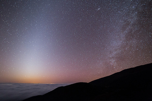 Zodiacal Light, Andromeda, and the Milky Way