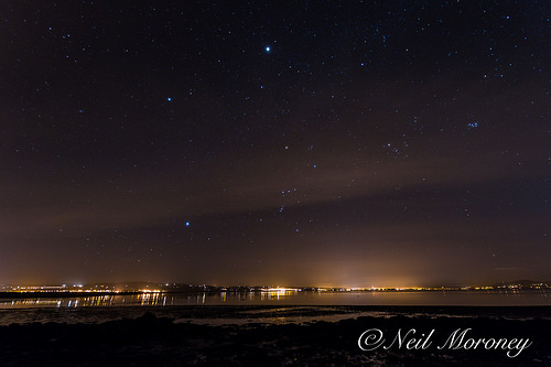 Night Sky above Lough Foyle, Co. Derry, Northern Ireland.