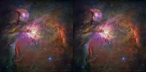 Orion Nebula in 3D: X stereo