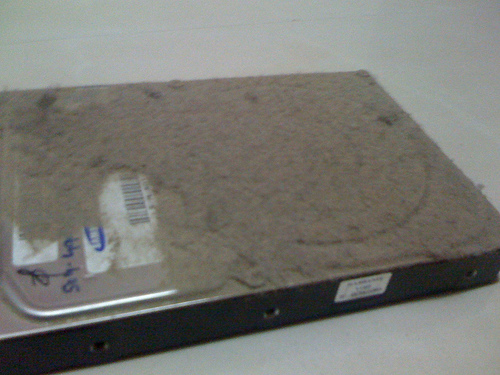 HDD with lots of dust