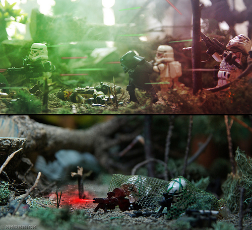 Star Wars rejected dioramas