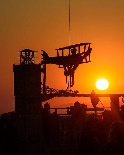 Model Airplane Memorial for OCF Plane Crash Victims at Sunrise