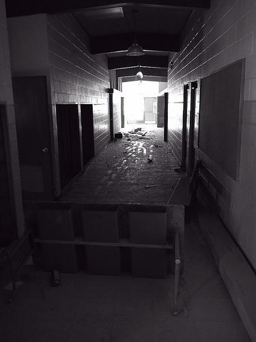 Inside the Vandalized Joplin-Inverness Elementary School