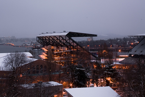 Husky Stadium from Allen Center
