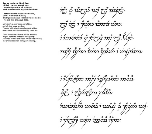 Riddle of Strider - Quenya