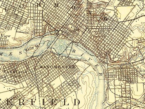 1894 U.S.C.&G.S. MAP, RICHMOND, VIRGINIA
