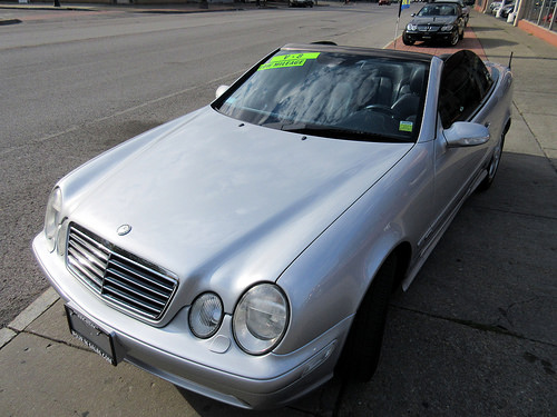 Angled View of 2002 Mercedes-Benz CLK-Class AMG