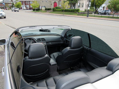 Back Interior of 2002 Mercedes-Benz CLK-Class AMG