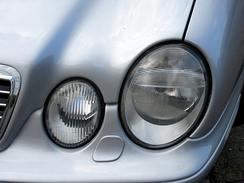 Headlights of 2002 Mercedes-Benz CLK-Class AMG