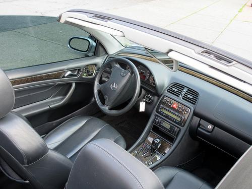 Front Interior of 2002 Mercedes-Benz CLK-Class AMG
