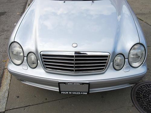 Hood of 2002 Mercedes-Benz CLK-Class AMG