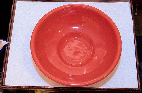 Persimmon Fiestaware Pedestal bowl top
