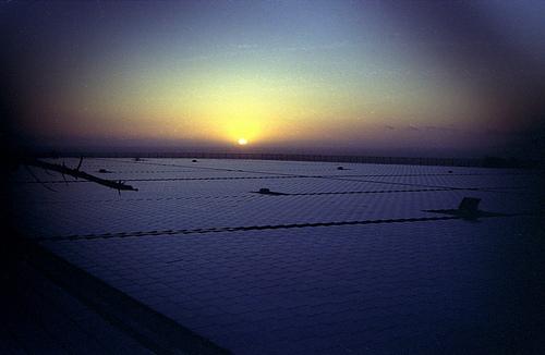 Sunset on Sunset Reservoir, SF
