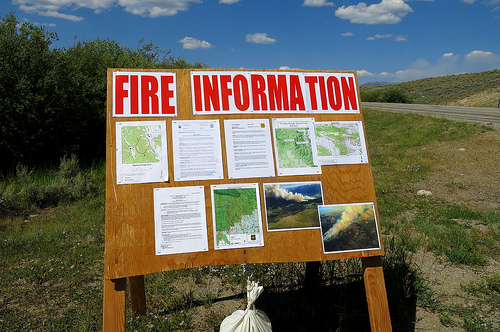 Wildfire info on Union Pass Road