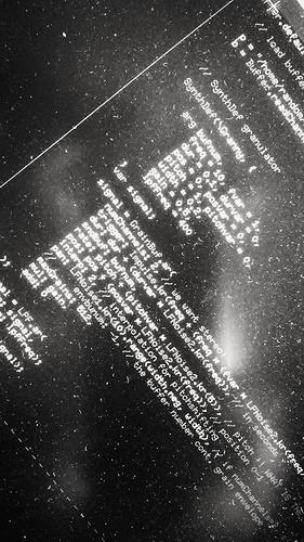 Noir code. (SuperCollider)