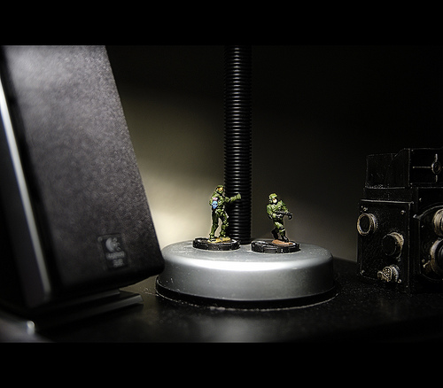 soldiers on my desk, no post processing aside from the framing