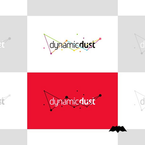 Logo design for Dynamic Dust, a mobile and desktop computer apps and games development studio.