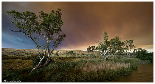 Storm coming in over the river Murry - South Australia.