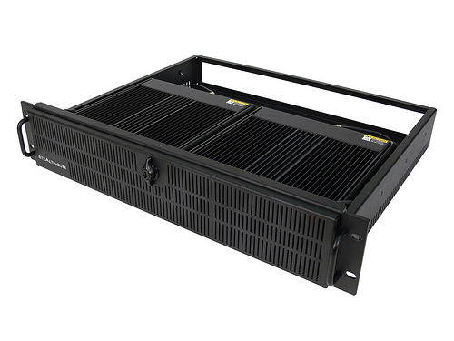 Fanless 2U Rackmount PC, dual system - front view