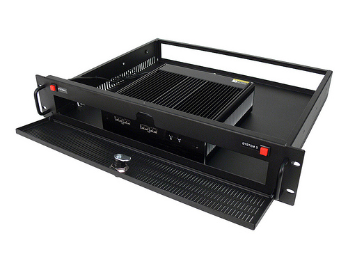 Fanless 2U Rackmount PC, single system - front view