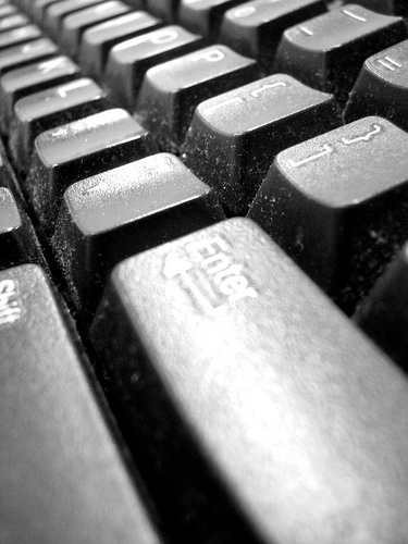 Dusty Keyboard through a Macro Lens