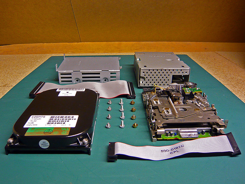 Hard Drive and Floppy Drive