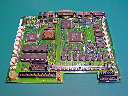 Macintosh LCIII Logic Board After Cleaning