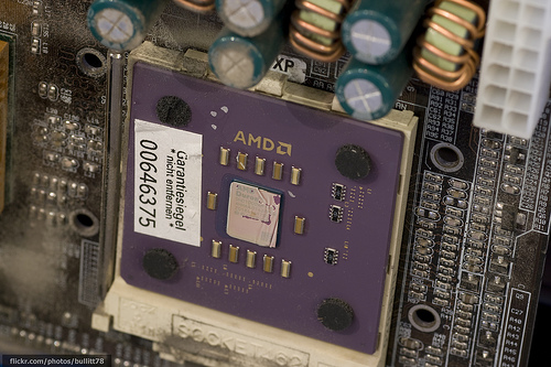 AMD Duron 1000 in dusty environment