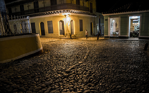 Cuba & US 2016 - Update 21/5/16 - Trinidad Night Waits for US - Trinidad - central Cuba - town in the province of Sancti Spíritus.Together with the nearby Valle de los Ingenios, one of UNESCOs World Heritage sites.Founded 23/12/1514